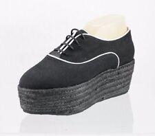 Women's Missoni Black Platform Oxfords Shoes Size 39 US 9 M NEW