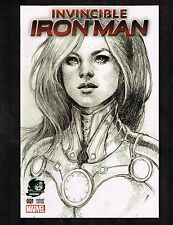 Invincible Iron Man #1 ~ Siya Oum Phantom Sketch Variant ~ (9.4) 2015 WH