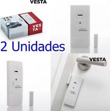 2 x Alarma Seguridad Imantada para Puertas y Ventanas,pegatina e imán doble cara