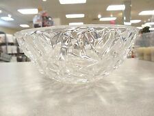 """GORGEOUS TIFFANY & CO.  """"ROCK CUT""""  9-INCH ROUND CRYSTAL SERVING BOWL, FRUIT, CA"""