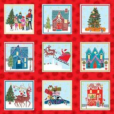 Christmas Wonderland Labels Panel Quilting Fabric 55 Individual Panels Makower