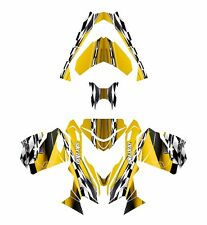 Ski Doo REV XS 2013 2014 2015 graphics sled custom wrap deco kit #2300 Yellow