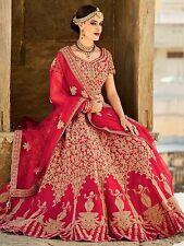 Bollywood Ethnic Designer Party Wear New Red Lehenga Choli Indian Pakistani Sari