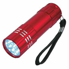 9 ULTRA BRIGHT LED POWERFUL SMALL CAMPING TORCH FLASH LIGHT LAMP LIGHTS RED