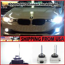 2 x 8000K D1S Replacement HID XENON Bulbs 4300K Headlight Low beam