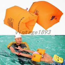 Learn Swimming Arm Ring Circle Dual Airbags Inflatable Devices Kids Adult Beach