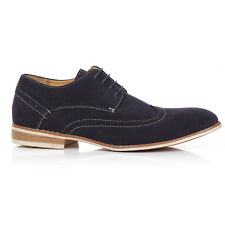 Mens Faux Suede Lace Up Casual Formal Office Work Lace Up Brogues Shoes UK Size