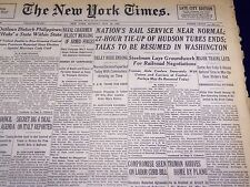 1946 MAY 20 NEW YORK TIMES - NATION'S RAIL SERVICE NEAR NORMAL - NT 2296