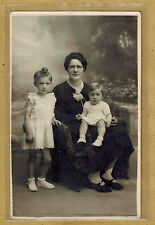 Carte Photo vintage card RPPC Gallet Bellac famille Millot femme enfant pz0161