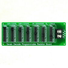 1R - 9999999R Seven Decade Programmable Resistor Board, Step 1R, 1%, 1/2 Watt.