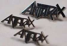 ANTRAX: Heavy Metal Band Vintage Pin Lot x3 Rare