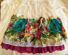 Size 14, floral, knee length, floaty skirt from George