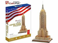 "NEW CubicFun New York Empire State Building 3D Puzzle 25.9"" Tall"