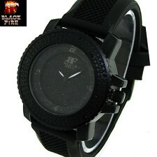 "LADIES ""BLACK FIRE WATCH"" DESIGNER STYLE ICE NATION WATCHES BRAND NEW STYLE #106"