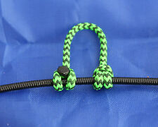 1 Pack Fl Green & Black Speckled Archery Release Bow String Nock D Loop BCY #24