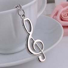 New Music Symbol Note G Treble Clef Pendant Keychain Key Chain Ring Fob Gift TS
