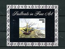 Grenada 2015 MNH Sailboats in Fine Art 1v SS Ships Boats Vincent Van Gogh Stamps