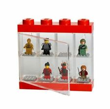LEGO Storage - 8 Minifigure Display Case - Red Small - 4065
