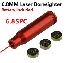 6.8 SPC Laser Bore Sighter Boresighter,Aluminum Red Anodized Finish