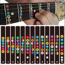 Professional Guitar Scales Sticker Fretboard Note Strips Decal Train Learner