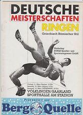 Orig.Komplette PRG    Deutsche Meisterschaft im Ringen 1994  !!  SELTEN