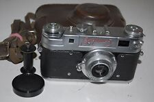 Zorki-5 RED NAME Soviet Rangefinder Camera and Jupiter-8 Lens. 5807795. UK Sale.