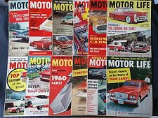 Motor Life  Magazine 1959 - The Complete Year 12 Complete Issues