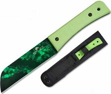 "Bear & Son 9 3/8"" Bear Tac II Neon Green G10 Handle Reaper Z Coated UD-CC-500"