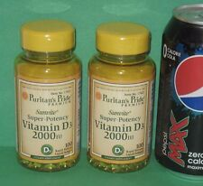 (2) Vitamin D-3, 100 softgels each,  2000 IU each, from Puritan's Pride
