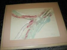 Stephen Kaye, Oil Abstract,Framed, Custom Mat, Signed LE111/350, Painting 33x41""