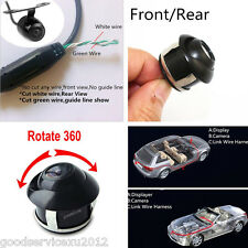2 X 360° Rotatable Waterproof Vehicle Front & Rear Astern Rearview HD Camera Kit