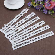 6Pcs White Fondant Cake Letter Number Decorating Cutter Mould Sugarcraft Tool