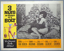 3 Nuts in search of a Bolt lobby card movie vtg 1964 Mamie Van Doren burlesque