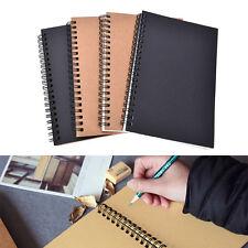 Reeves Spiral Bound Coil Sketch Book Blank Notebook Kraft Sketching Paper ATAU