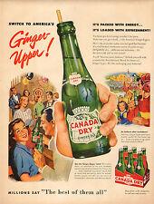 1953 vintage beverage AD CANADA DRY Ginger Ale Soft Drink , Soda 031116