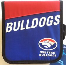 AFL CD / DVD WALLET WITH ZIP HOLDER WESTERN BULLDOGS CARRY CASE CAR HOME GIFT