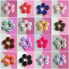30 Micro Small Mini Doll Petit Tiny Craft Sewing Shiny Buttons 7mm Multi Colors