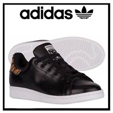 Juniors Women Girls Trainer AQ296 Adidas Stan Smith GS Tiger Black trainers UK 5