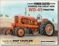 Allis Chalmers WD-45 12 x 16 metal sign