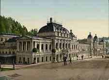 Böhmen. Marienbad. Kursaal und Neubad.   PZ vintage photochromie, photochrom p
