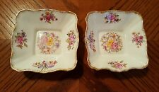 Vintage ROYAL ALBERT Bone China GEORGINA Made In England Square Dishes (2)