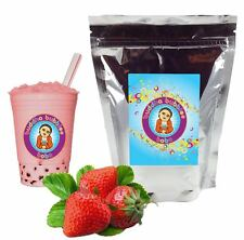 Strawberry Boba / Bubble Tea Powder by Buddha Bubbles Boba (1 Kilo | 2.2 Pounds)