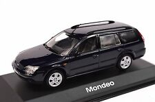 FORD MONDEO 3 ESTATE 2000 DARK BLUE DEALER MODEL MINICHAMPS 433 080013 1:43 NEW
