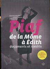 PIAF DE LA MOME A EDITH / DOCUMENTS INEDITS+CD enregistrements inédits