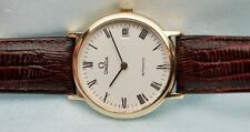Very Fine Vintage 18k Gold Omega Automatic From 1971 White Dial  No Reserve