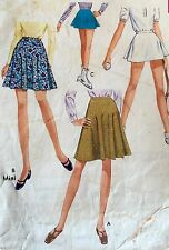 """USED & VINTAGE RARE 1969 'STYLE' TENNIS SKIRT PATTERN 2396 SIZE W 24"""""""