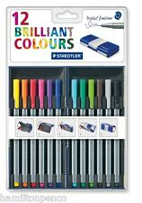 STAEDTLER TRIPLUS FINELINER PENS - Magic Box of 12 assorted colour pens!