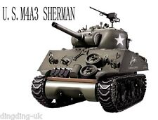 Heng long Télécommande Radio RC 2.4 G TANK M4A3 SHERMAN 1/16 UK