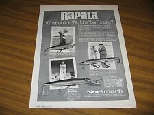 1971 Print Ad Rapala Fishing Lures Countdown,Floating,Magnum