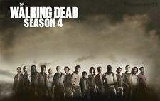 "The Walking Dead 1 2 3 4  TV Zombie Fabric poster21"" x 13"" Decor 76"